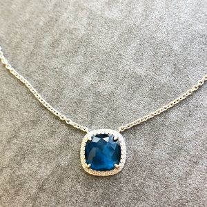 Nadri Blue Cubic Zirconia Pendant Necklace